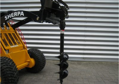 Auger Attachment for Electric Walk-Behind Skid Steer